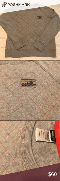Patagonia quilted crew neck sweatshirt SMALL Women's PATAGONIA quilted crew neck. Size SMALL. Sorry but no trades. Please ask if any questions on product description. Patagonia Sweaters Crew & Scoop Necks