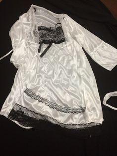 Tiny Size XXS Black And White Lingerie, 3 Pcs US Seller