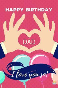 Happy Birthday, Dad! I love you so!