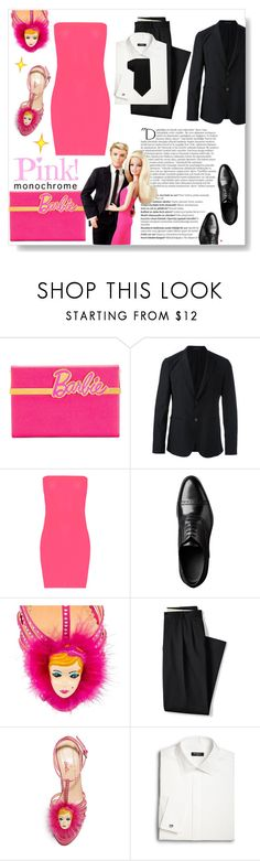 """Color Me Pretty: Head -to- Toe Pink"" by fattouvy ❤ liked on Polyvore featuring Balmain, Charlotte Olympia, Emporio Armani, WearAll, Lands' End, Saks Fifth Avenue, Tommy Hilfiger, Barbie, Ken and monochromepink"