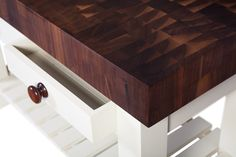 Beautifully crafted, our Walnut End Grain Units will leave anyone speechless.    http://www.norfolkoak.com/furniture/end-grain-units.php