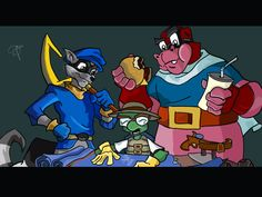 My fav game :) Sly Cooper and the gang