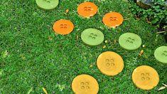 allées de jardin artisanale-pas-japonais-ronds-colorés