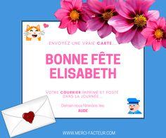 Envoyez une #carte pour souhaiter une BONNE FÊTE à votre amie Elisabeth 💌 👉  #bonnefête #Fête #Aude #Elisabeth #courrier #LaPoste #maman #femme