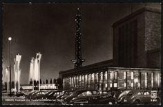 FUNKTURM UND AUSSTELLUNGSHALLEN  BERLIN 1956 - Postkarte - Industrie-Fotografen Klinke & Co. Berlin-Tempelhof