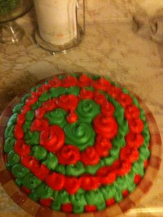 Red and Green Cake!!