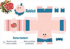 ESPAÇO EDUCAR: Atividade com a turma do Sítio: Recortar e montar as personagens bonecos de papel! Emília, Visconde e tantos outros!