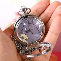 Kawaii cartoon totoro pocket watch