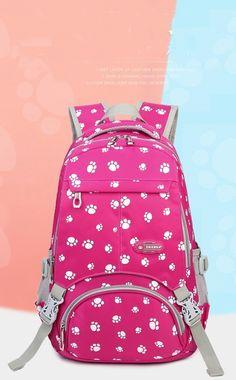 Women's Cute Paw Print Fashion Backpack