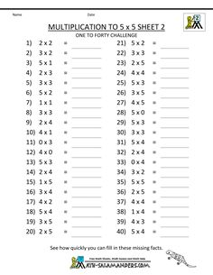 Here is a selection of printable multiplication worksheets. You can select different printable multiplication worksheets based on your needs. The multiplication Math Division Worksheets, Printable Multiplication Worksheets, 3rd Grade Math Worksheets, Free Math Worksheets, Letter Worksheets, Ks2 Maths, Multiplication Activities, Multiplication Chart, Workout Challenge
