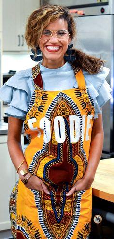 Apron Dashiki apron African apron Screen printed by ALeapOfStyle African Fashion Ankara, Ghanaian Fashion, African Print Fashion, Fashion Prints, African Prints, Nigerian Fashion, Men's Fashion, African Attire, African Wear