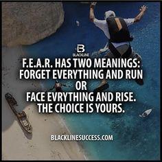 Fear has two means quote #blacklinesuccess #sales #salestraining #entrepreneur #millionairemindset #goals #leadership #ceo #successful #motivation #leader #millionaire #business #hustle #picoftheday #Blackline #success #motivationalquote #joshcampos #inspiration #quotes #mindset #lifequotes #entrepreneurlife #money #ambition #confidence BLACKLINESUCCESS.COM