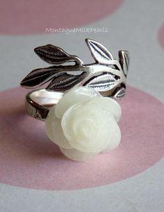 Breast Milk Rose Vine Ring. Breastmilk Jewelry