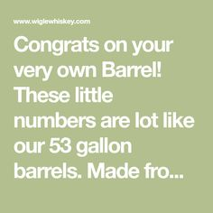 Congrats on your very own Barrel! These little numbers are lot like our 53 gallon barrels. Made from white American oak, they are toasted on the inside to deliver a rich flavor of caramel and spice in weeks. Below are some guides for how to best use your barrel and some answers to frequently asked questions. Starting your Kit. 1. Fill with Water