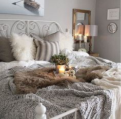 This bed just makes me want to crawl right in...