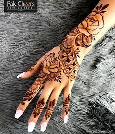 Best Beauty Salons - Best Bridal Makeup in Pakistan - PakCheers Hand Tattoos, Henna Tattoo Hand, Henna Body Art, Henna Mehndi, Henna Art, Body Art Tattoos, Mandala Tattoo, Mehendi, Tatoos