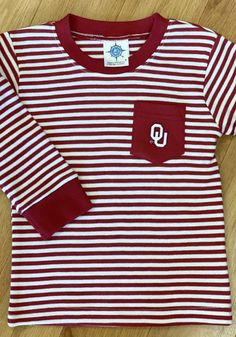 Oklahoma Sooners Toddler Crimson Pocket Tee Long Sleeve T-Shirt - 35010147 Oklahoma Sooners, Long Sleeve Tees, T Shirt, Tops, Women, Fashion, Supreme T Shirt, Moda, Tee Shirt