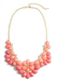 The perfect coral statement necklace for the summer
