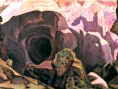 """Scene ontwerp voor """"Peer Gynt"""" - Nicholas Roerich"""