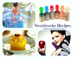 This is such a cute fairytale recipes post! Once Upon a Time party food ideas! Party in Storybrooke style with Emma Swan, Queen Regina and the Blue Fairy with baked apples, edible fairy dust, swan cupcakes and more. Fairytale birthday ideas make me want my birthday to be next week! #OUAT