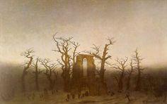 Caspar David Friedrich German, 1774 - 1840 Abbey in the Oakwood  Date: 1809-10
