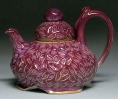 Mauve Handmade Teapot in North Carolina |Asheville Teapots