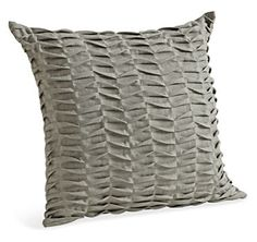It was a pillowcase, in a plain grey fabric but oh so fabulous. Grey Pillows, Accent Pillows, Throw Pillows, Pin Tucks, Pillow Talk, Grey Fabric, Merino Wool Blanket, Great Rooms, Decorative Pillows