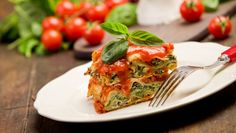 Gluten-Free, Vegan Veggie Lasagna  Layers of rice noodles, sauce and you-wont-believe-it's-not-ricotta-filling: It may not be Mom's version, but this vegan, gluten-free lasagna recipe comes close!