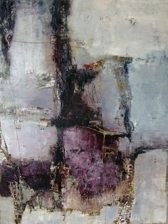 'Behind All The Questions' by Jean Myers -  oil and cold wax on panel, 48x36 #mixed_media #encaustic #painting #textures