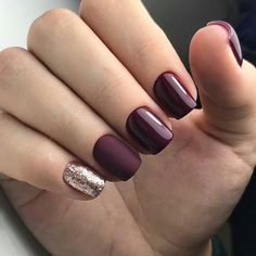 Shellac Nails Burgundy We love burgundy nails and think you will too so, we have found 10 beautiful burgundy nails for you to fall in love with 11 Matte Burgundy and Leopard Nails We love leopard print nail art! Our next nail idea s - nails Burgundy Nails, Purple Nails, Burgundy Nail Designs, Nails Turquoise, Love Nails, Fun Nails, Shellac Nails, Nail Polish, Acrylic Nails