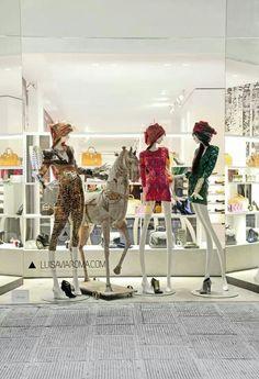 Luisa Via Roma fashion window display