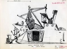 Bruce Bushman Technical Sketches for Disney's Mickey Mouse Club