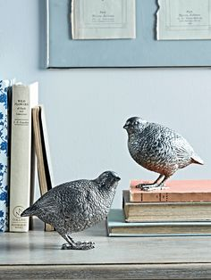 Made from resin with a soft silver finish, our pair of elegant quail decorations will add a whimsical touch to your interior. Perch on a windowsill or console table as a sweet decorative accessory. Decorative Accessories, Decorative Items, Home Accessories, Homeware Uk, Cox And Cox, Best Trade, Elegant Homes, Window Sill, Console Table