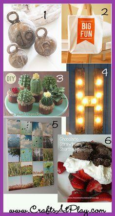 6 free craft tutorials. LOVE the H sign