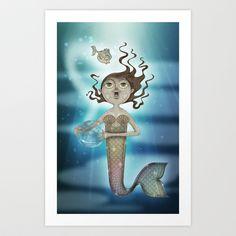 Mermaid Art Print by José Luis Guerrero - $12.48