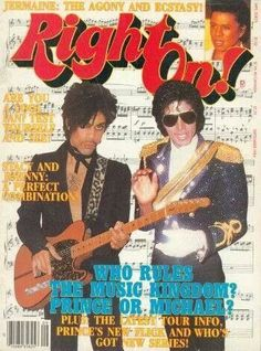 "September Right On! Magazine asks ""Who Rules the Music Kingdom? Prince or Michael?"" michael jackson was my idol Michael Jackson, Minneapolis, Prince Purple Rain, Jackson Family, Jackson 5, The Jacksons, Roger Nelson, Prince Rogers Nelson, My Prince"