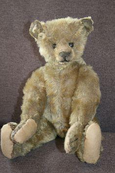 Vintage Steiff Bear Old Teddy Bears, Antique Teddy Bears, Steiff Teddy Bear, My Teddy Bear, Love Bear, Bear Doll, Antique Toys, Old Toys, Belle Photo
