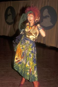 The Most Outrageous Grammy's Outfits in History: Cyndi Lauper