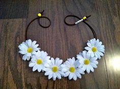 White Daisy Flower Headband Flower Crown Flower by BrittsBlossoms, $15.95