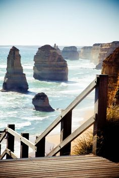 Twelve Apostles, Port Campbell National Park, Victoria, Australia - The Great Ocean Road Places Around The World, Oh The Places You'll Go, Travel Around The World, Places To Travel, Places To Visit, Around The Worlds, Great Barrier Reef, Cairns, Australia Travel