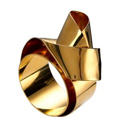 Vionnet Accessories Sculptural Ribbon Cuff ❤ liked on Polyvore