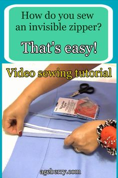 Learn how to sew an invisible zipper, how to use a zipper presser foot. This video sewing tutorial is about invisible zipper vs regular zipper and other invisible zipper problems. Techniques Couture, Sewing Techniques, Youtube Sewing, Zipper Tutorial, Pillow Tutorial, Tutorial Sewing, Leftover Fabric, Sewing Hacks, Sewing Tips
