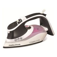 Morphy Richards 301021 Ceramic Soleplate Comfigrip Steam Iron, 2600 W This Comfigrip Iron has a ceramic soleplate which glides easily over fabric. With 55g of constant steam and a 200g turbo steam you get a pristine finish and it has an eco (Barcode EAN = 5011832052452) http://www.comparestoreprices.co.uk/december-2016-6/morphy-richards-301021-ceramic-soleplate-comfigrip-steam-iron-2600-w.asp
