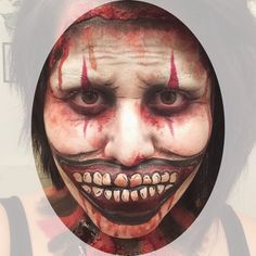 American Horror Story: Freak Show's Twisty the Clown's inspired makeup.