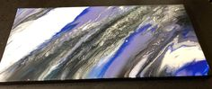 Original Canvas Painting / abstract art / fluid art / abstract / purple / gray / wall decor / abstract painting / home / acrylic painting / Acrylic Resin, Acrylic Pouring, All Pop, Mystic, Etsy Shop, Abstract, Purple, Amazing, Crafts