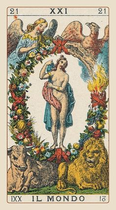 The World - Ancient Italian Tarot