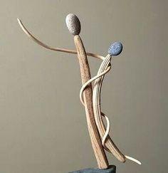 Pam Joy driftwood art