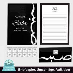 Briefpapier Briefumschläge Aufkleber  Sabr von Islamischershop