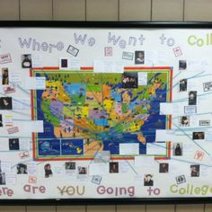 Where are you going to college? Bulletin board. College readiness. No excuses