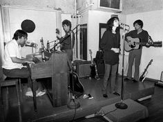 Lou Reed with Patti Smith, John Cale and David Byrne at the Lower Manhattan Ocean Club, 1976